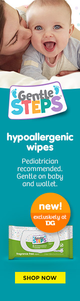 Gentle Steps Hypoallergenic wipes ad