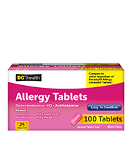 DG Allergy Tabs 100ct