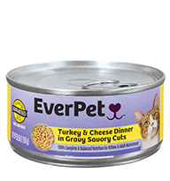 EverPet Turkey & Cheese Cat Food