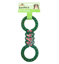 3 Ring Tug Dog Toy