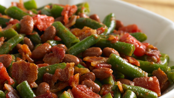 Bean Medley With Tomatoes