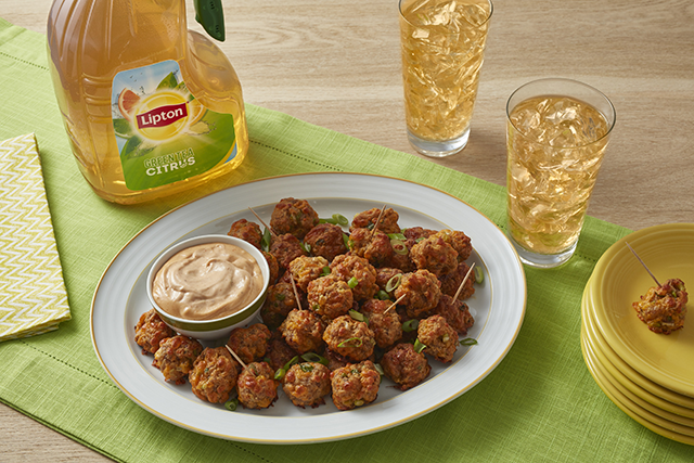 Sunny's Easy Sausage & Cheese Balls with BBQ Dipping Sauce