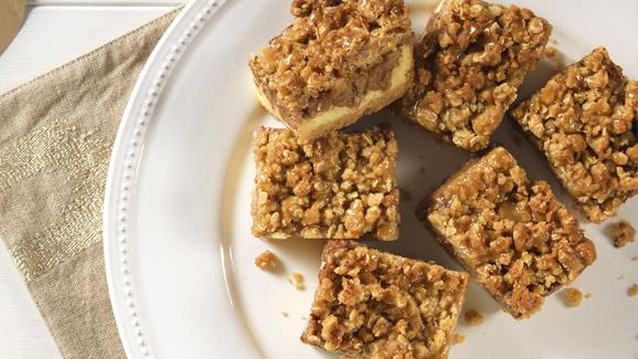 Caramel Apple Crisp Squares