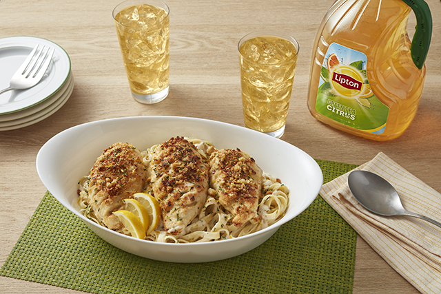 Sunny's Easy Hasselback Chicken Breasts and Creamy Pasta